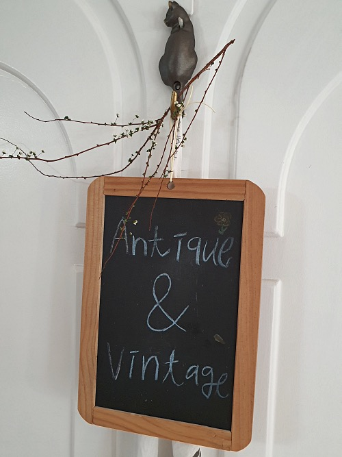 Vintage French Childs school chalkboard